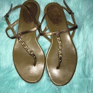 Gucci Thong Sandals Green Olive 7B